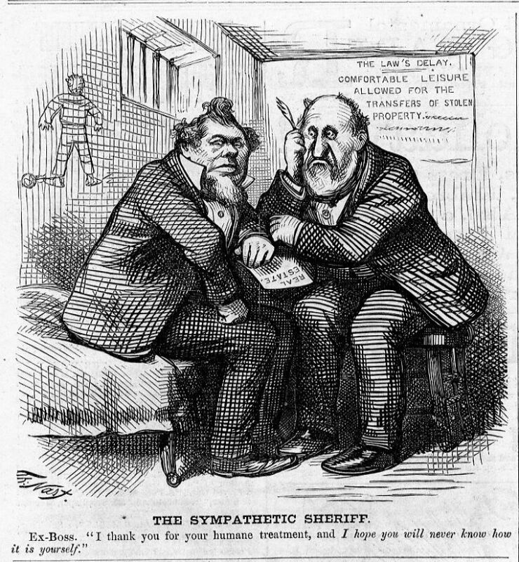 POLITICS, BOSS TWEED STOLEN PROPERTY, LAW, SHERIFF