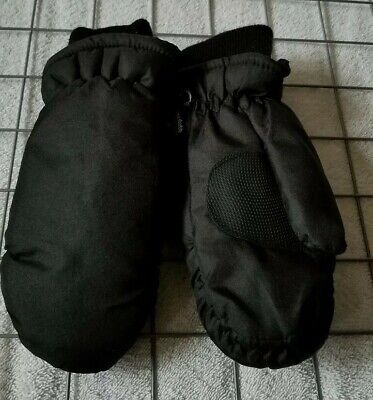 Thinsulate Coldbuster Mittens Black KIDS BOYS Size Youth Medium  New