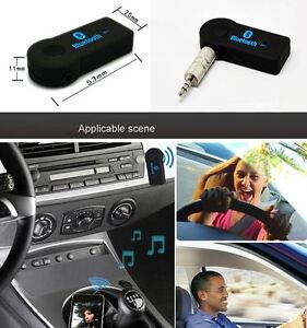Wireless Bluetooth 3.5mm Aux Audio Stereo Music Receiver Adapter Mic iphone 7