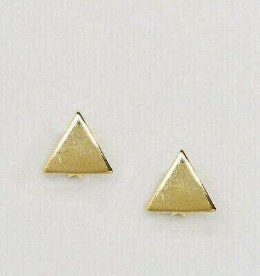 Kingsley ryan Gold plated Triangle Stud Earrings