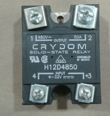 Crydom H12wd4850 Solid State Relay 4-32vdc 007d2