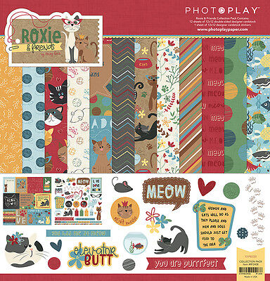 Photo Play Roxie and Friends 12x12 Pet Cat Collection Kit