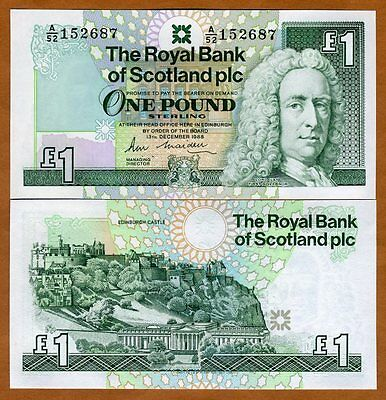 Scotland Royal Bank  1 Pound  1988  P 351  351A   Unc   Scarce First Date