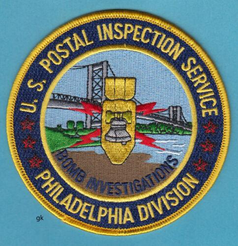 PHILADELPHIA PENNSYLVANIA  POSTAL BOMB INVESTIGATIONS POLICE PATCH