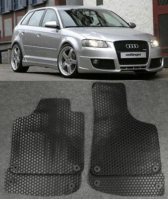 4 Pieces All Weather Front Rear Heavy Rubber Floor Mat Set For 06-13 Audi A3 Audi A3 Rear Mat