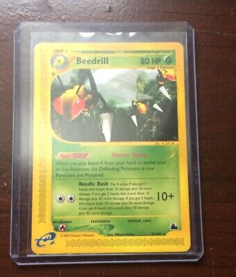 Pokemon Trading Card Game TCG Reverse Holo Rare Beedrill E-Reader Skyridge 5/144