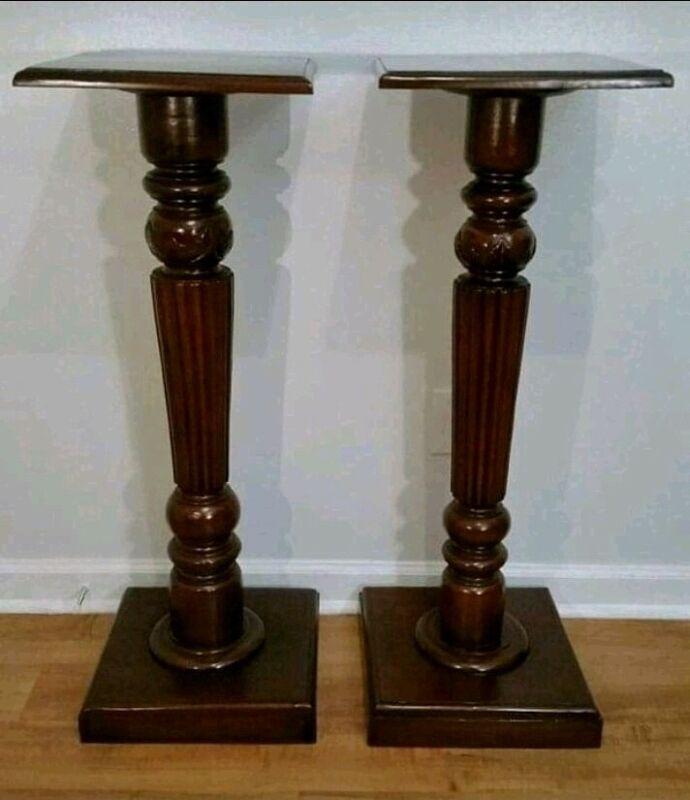 Mahogany Pedestals / Plant Holders