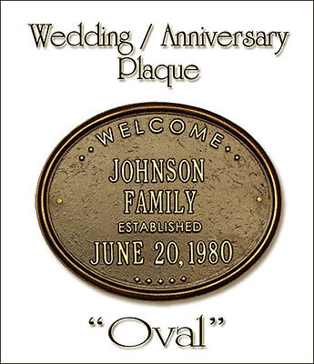 Wedding Anniversary Colors (Whitehall Wedding Anniversary New Home Oval Plaque Choose from 17 Colors No)