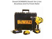 Dewalt nail gun 2 5ah battery's boxed