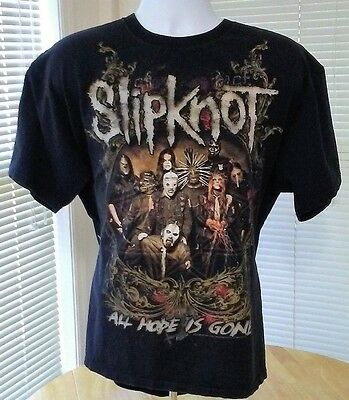 SLIPKNOT ALL HOPE IS GONE CONCERT T-SHIRT WITH TOUR DATES XL