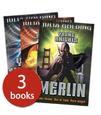 YOUNG KNIGHTS TRILOGY 3 BOOK SET by JULIA GOLDING Round Table Pendragon Merlin