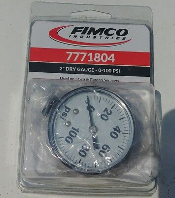Fimco 100 Psi Spray Tank Dry Gauge Mfg 7771804