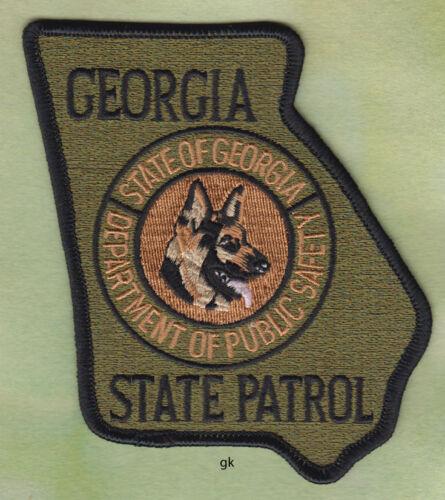 GEORGIA STATE SHAPE K9 DPS STATE PATROL SHOULDER PATCH  ( Subdued)