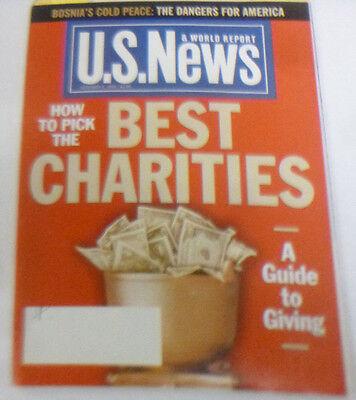 U.S. News Magazine How To Pick The Best Charities December 1995