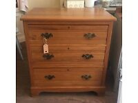 Vintage Edwardian Wooden Chest Of Drawers