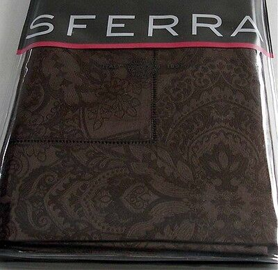 Sferra Alistair Euro Sham Chocolate 1,020 Tc Egypt Cotton Jacquard Italy New