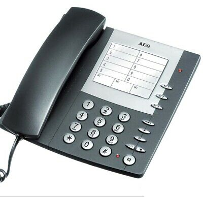 AEG Milano 20 schnurgebundenes analog Telefon mit Kurzwahl / große Tasten