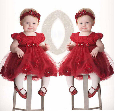 Princess Wedding Party Prom Birthday Dress Skirt Tutu Dresses For Baby Girl 0-3Y](Birthday Dresses For Girls)