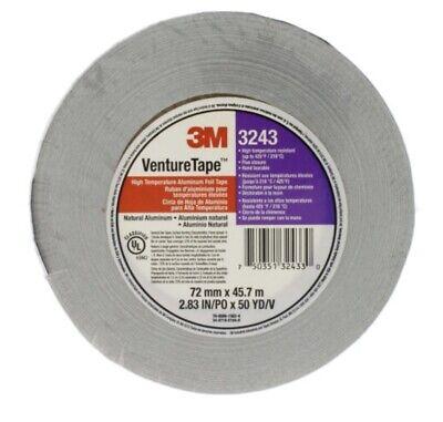 10 3m Venture Tape 3243 Aluminum Foil Tape 2.83 X 50 Yards High Heat 3 Lot