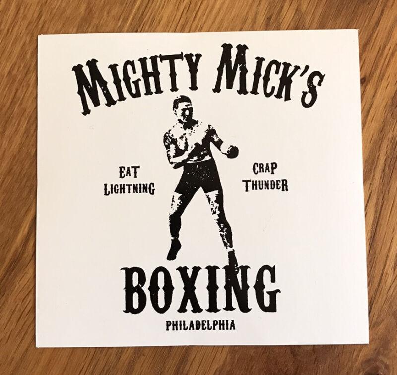 Mighty Mick's Boxing Vinyl Sticker 2-pk Rocky Balboa Stallone Creed Philadelphia
