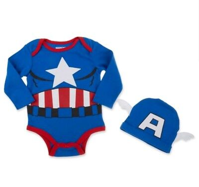 Marvel Bodysuit (Marvel Captain America  Infants  Bodysuit & hat 2pcs)