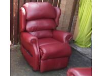 2 seater three piece suite leather