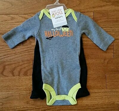 Carters Halloween Outfit Bodysuit Pants Frankenstein NWT NB and 6 - Frankenstein Outfits
