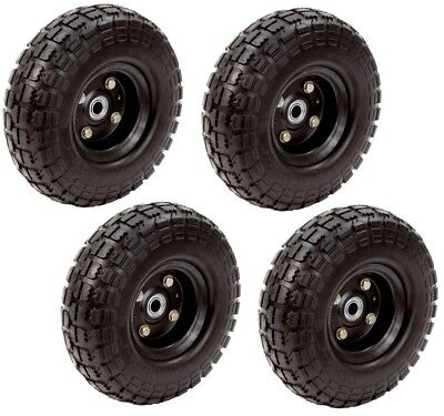"""10"""" Never Flat Airless Solid Wheels Cart Equipment Replaceme"""