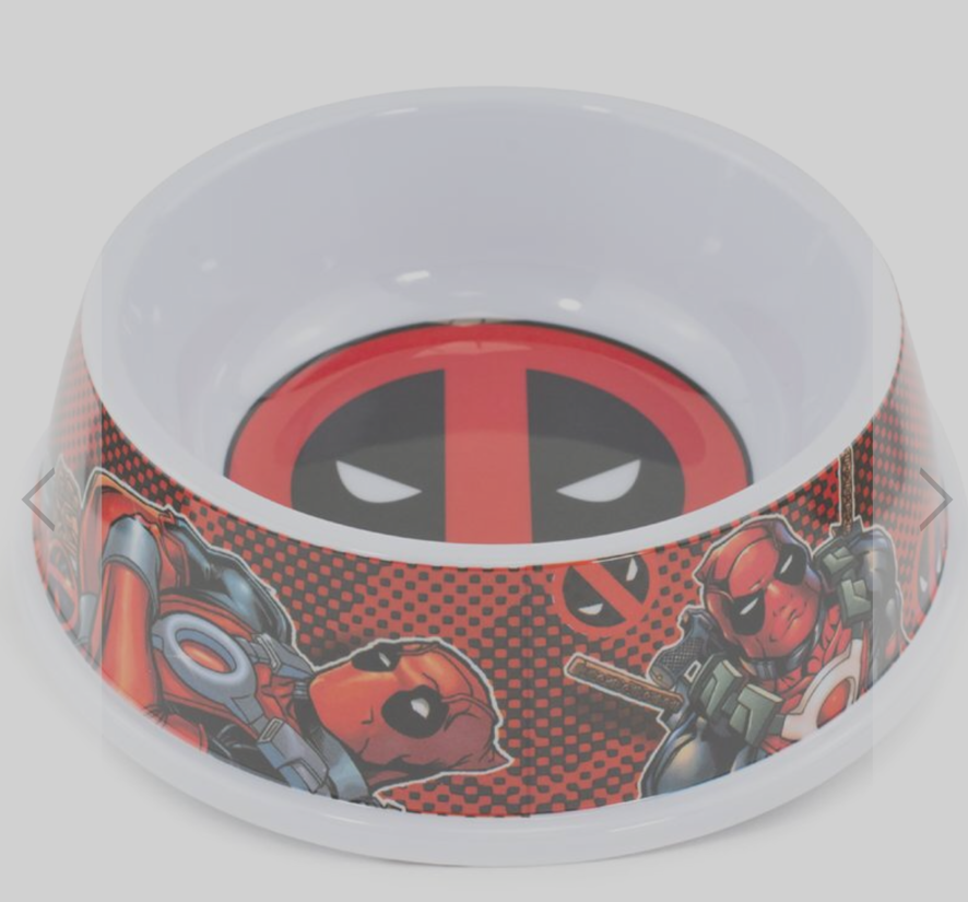 Buckle Down Deadpool Dog Bowl Pet Food or Water Melamine Dish Holds 2 Cups NEW