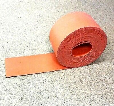 Silicone Rubber Sheet Solid Us Hi-temp 18thk X 3 W X 36 L Strip 60 D Red