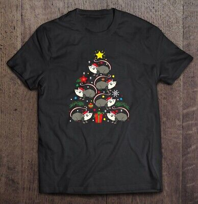 Opossum Possum Christmas Tree Black T Shirt. Best Christmas Gift For Friends. ()