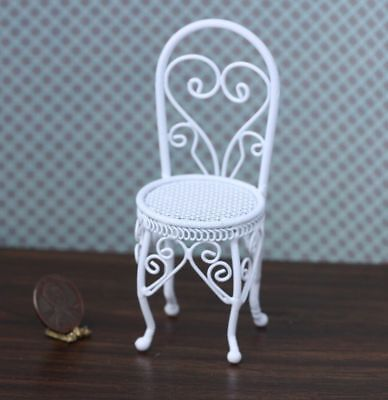 Dollhouse Miniature Victorian Sweetheart Wire Chair - Sweetheart Chair