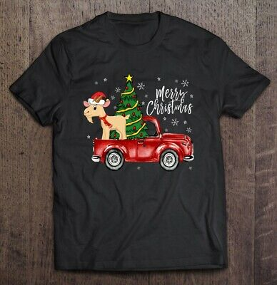 Merry Christmas Boer Goat Red Black T Shirt. Best Christmas Gift For Friends. ()