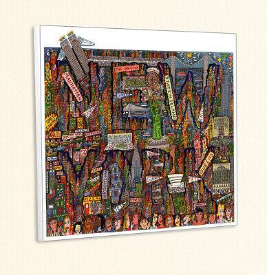 New York Street Map (City map of New York PopArt Mets Wallstreet Kunstdruck Poster Rizzi Platte 33)