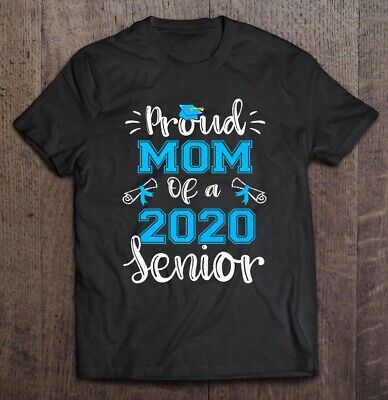 Proud Mom Of A 2020 Senior Classic Black T Shirt. Best Gift For Your Family. ()