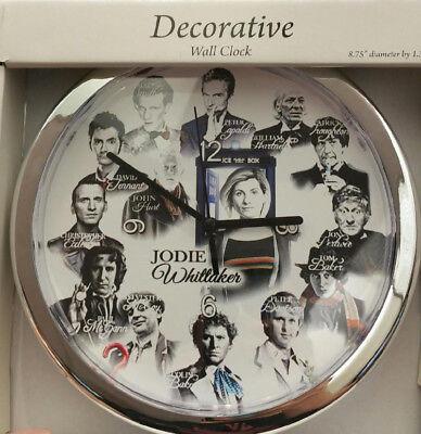 Doctor Who Clock - All 14 Doctors Christopher, Matt, David, Peter, John, Jodie +