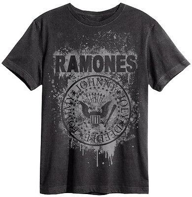 Graffiti Logo T-shirt (Amplified - Ramones Graffiti Logo Herren T-Shirt (Grau) (S-XL))