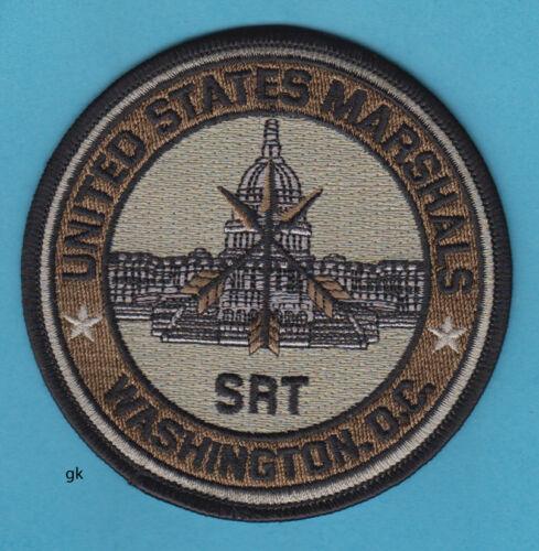 US MARSHALS SRT  WASHINGTON DC  POLICE SHOULDER PATCH  (Subdued)