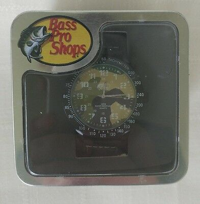 New Bass Pro Shops Quartz Men's Ditch-water Resistant Watch Camo and Bad-tempered