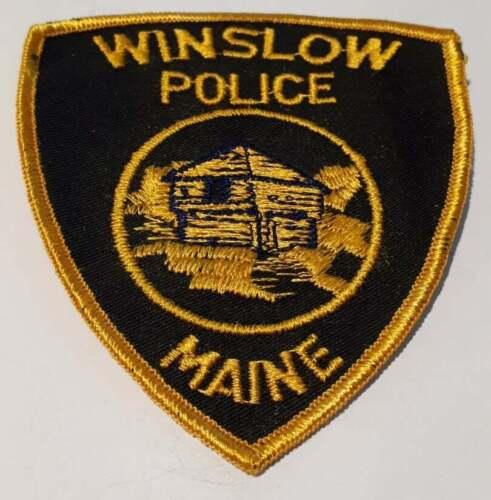 Winslow Maine ME Police Patch Vintage