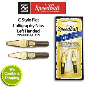 Speedball Calligraphy Left Hand Nib Two Pack Lc1 Lc2