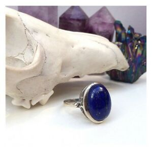 NEW Lapis Lazuli Pyrite Gemstone & Sterling Silver Unisex Ring RRP$90 North Melbourne Melbourne City Preview