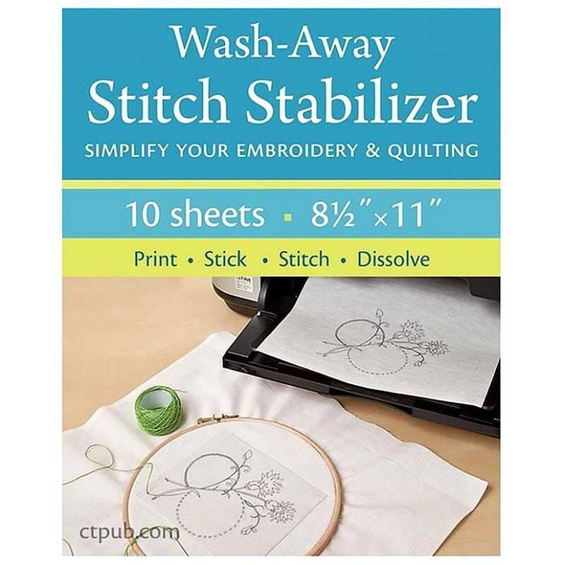 "C&T Publishing, Wash-Away Stitch Stabilizer Sheets-8.5""x11""-Stitch right through"