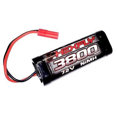 3800Mah Ni-MH Battery - 7.2V with Banana 4.0 Connector - HX-