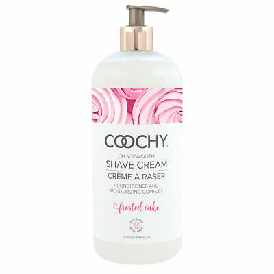 Coochy Water Based Shave Cream Skin Protection Frosted Cake 32oz Rash -