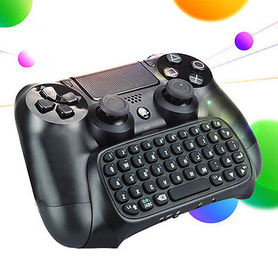 3.5mm Plug Black Mini Wireless Chatpad Message Keyboard for PS4 Controller YH
