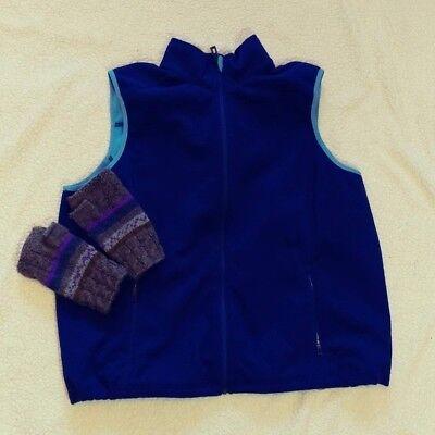 - L.L. Bean Womens Blue Full Zipper Fleece Vest Size 1X EUC