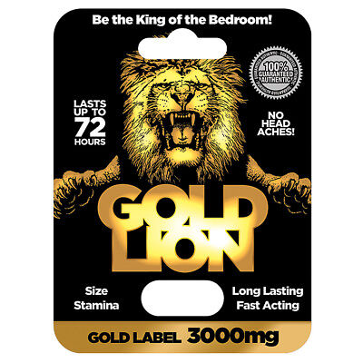 Gold Lion Male Enhancement Pill Stronger Erections Stamina Energy Size