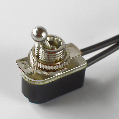 Toggle Switch Onoff - Nickel Plated - 6a120v - Steampunk Switch 2-wire