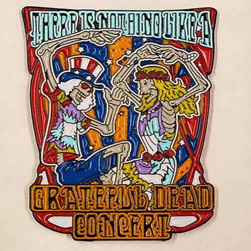 GRATEFUL DEAD 50TH - CONCERT - HAT PIN - BRAND NEW - MUSIC HP025